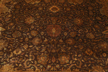 9x12 Hand Knotted Persian 100% Wool Sarouk Traditional 300 KPSI Oriental Area Rug Chocolate, Gold Color