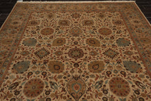 8x10 Hand Knotted Persian 100% Wool Agra Traditional 200 KPSI Oriental Area Rug Beige, Tan Color