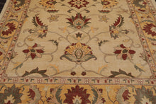 8x10 Hand Knotted Persian 100% Wool Peshawar Traditional Oriental Area Rug Beige, Light Caramel Color
