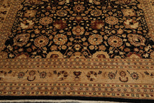 "8'1""x10'1"" Light Pistachio  Ivory Indigo, Olive, Gold, Color Hand Knotted Tibetan Oriental Area Rug Wool & Silk Traditional Oriental Rug"
