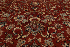 "8'2""x11'4"" Taupe Ivory Gold, Brown Color Hand Knotted Tibetan Area Rug Wool & Silk Traditional Oriental Rug"