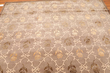 "8'2""x 11'4"" Hand Knotted Designer Wool & Silk Tibetan Area Rug Traditional"