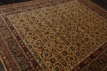 8x10 Hand Knotted Persian 100% Wool Agra Traditional 200 KPSI Oriental Area Rug Beige, Black Color
