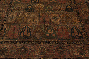 8x10 Hand Knotted Persian 100% Wool Traditional Oriental Area Rug Rust, Camel Color