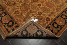 8x10 Hand Knotted Persian 100% Wool Traditional Jaipur Oriental Area Rug Gold, Charcoal Color