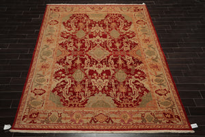 9x12 Hand Knotted Persian 100% Wool Peshawar Traditional Oriental Area Rug Charcoal, Olive Color