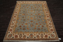 9x12 Hand Knotted Persian 100% Wool Agra Traditional Oriental Area Rug Slate, Beige Color