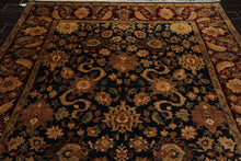 8x10 Hand Knotted Persian 100% Wool Agra Traditional Oriental Area Rug Navy, Burgundy Color