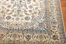 "6'10"" x 10' Hand Knotted Authentic Nain Medallion Wool & Silk Oriental Area Rug"
