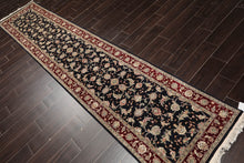 "3'8"" x 11' Hand Knotted Semi Antique Heriz Wool Persian Oriental Area Rug Runner"