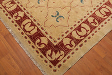 "8'2""x10'4"" Light Gold Rust Blue, Multi Color Hand Knotted Persian Oriental Area Rug Wool Traditional Oriental Rug"