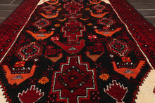 4x6 Hand Knotted Persian 100% Wool Gabbeh Traditional Oriental Area Rug Charcoal, Burgundy Color
