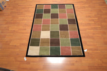 "5'5"" x 8'1"" Hand Knotted 100% Wool High Low pile Tibetan Area rug Modern"
