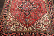 5x7 Hand Knotted Persian 100% Wool H e r i z Traditional Oriental Area Rug Red, Ivory Color