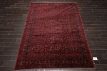 6x9 Hand Knotted Persian 100% Wool Tribal Traditional Oriental Area Rug Burgundy, Black Color