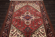 5x7 Hand Knotted Persian 100% Wool H e r i z Traditional Oriental Area Rug Rust, Ivory Color