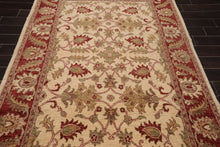 6x9 Hand Knotted Persian 100% Wool Arts and Craft Traditional Oriental Area Rug Beige, Rust Color