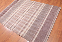 5'x7' Beige Grey Tan Color Hand Loomed Loop & Cut Pile Area Rug 100% Wool Contemporary  Oriental Rug