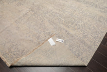 9x12 Hand Knotted Erased Pattern 100% Wool Modern & Contemporary Oriental Area Rug Tone On Tone Gray Color