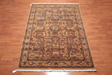 "6'6""x9'2"" Gold Rust Blue, Black, Brown, Multi Color Machine Made Wilton Weave 100% Wool Traditional Oriental Rug"