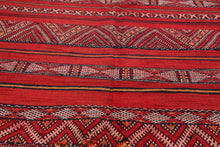 5x7 Hand Woven Kilim 100% Wool Traditional Oriental Area Rug Rusty Red, Charcoal Color