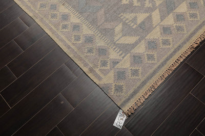 6'x9' Blue Cream Rust, Brown, Rose, Green,  Multi Color Hand Knotted Persian Oriental Area Rug 100% Wool Traditional Oriental Rug