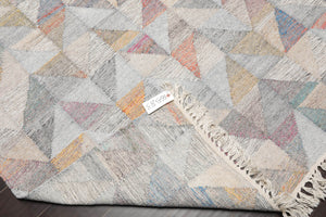 "5'1"" x 6'10"" Nourison Hand Knotted Reversible Soumak Wool Flatweave Area Rug"