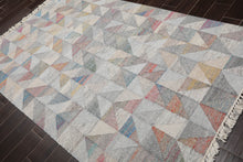 4x6 Hand Knotted 100% Wool Traditional Oriental Area Rug Blue, Red Color
