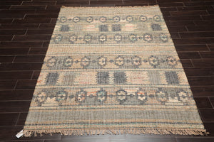 "3'8""x7' Red Black Maroon, Ivory Color Hand Knotted Oriental Area Rug 100% Wool Traditional Oriental Rug"