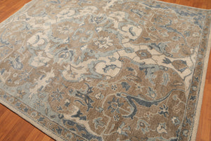 8' x10'  Gray Beige Blue, Multi Color Hand Tufted Persian Oriental Area Rug 100% Wool  Traditional Persian Oriental Rug