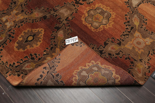 4'x6' Taupe Beige Brown, Aqua, Rust, Multi Color Hand Knotted Persian Oriental Area Rug 100% Wool Traditional Oriental Rug