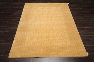 8x10 Machine Made Wool and Bamboo Silk Calvin Klein Modern & Contemporary Oriental Area Rug Tan, Beige Color