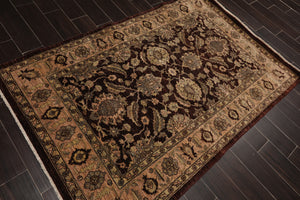 Oriental Rug of Houston Hand Knotted Wool Oriental Area Rug (4' x6' )