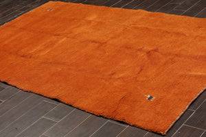 "5'3""x8'6"" Burnt Orange Off-White Blue Color Hand Knotted Persian Oriental Area Rug 100% Wool Traditional Oriental Rug"