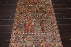 3' x4' 8''Hand Knotted Silk Oriental Area Persian Rug