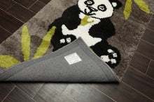 Oriental Area Rug Hand Tufted Polyster/Cotton Blend Novelty Animal Shag Panda  Super Soft (3'x5')
