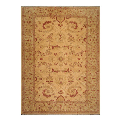 10' 01''x13' 09'' Tan Rust Brown Color Hand Knotted Persian 100% Wool Traditional Oriental Rug