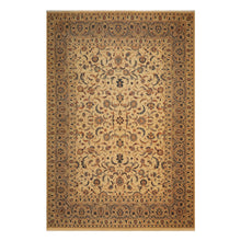 09' 11''x13' 05'' Warm Beige Taupe Burnt Orange Color Hand Knotted Persian 100% Wool Traditional Oriental Rug