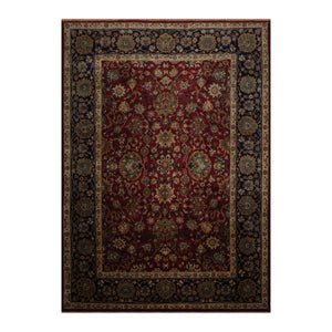 10' 01''x13' 06'' Maroon  Navy Beige Color Hand Knotted Persian 100% Wool Traditional Oriental Rug