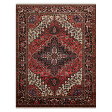 06' 05''x08' 05'' Rust Ivory Charcoal Color Hand Knotted Persian 100% Wool Traditional Oriental Rug