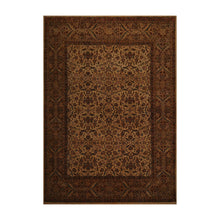 09' 02''x12' 00'' Warm Beige Brown Rust Color Hand Knotted Persian 100% Wool Traditional Oriental Rug