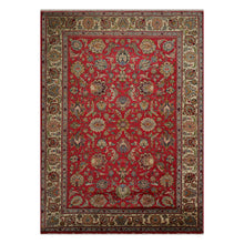 08' 04''x12' 00'' Red Ivory Blue Color Hand Knotted Persian 100% Wool Traditional Oriental Rug