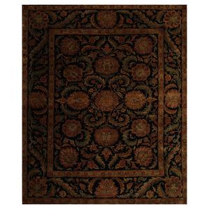 07' 10''x09' 06'' Black Gold Sage Color Hand Knotted Persian 100% Wool Traditional Oriental Rug