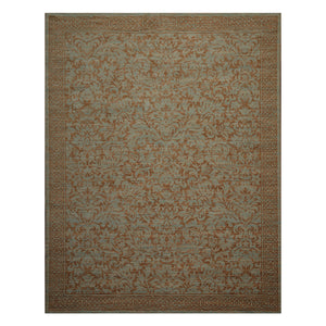 08' 00''x10' 01'' Aqua Brown Color Machine Made Persian 100% Wool Traditional Oriental Rug
