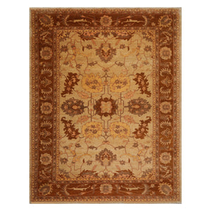 08' 03''x11' 04'' Beige Tan Brown Color Hand Knotted Persian 100% Wool Traditional Oriental Rug