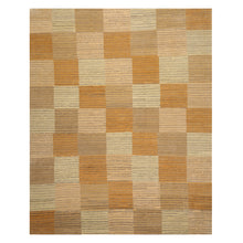 07' 11''x09' 08'' Beige Brown Gray Color Hand Knotted Tibetan 100% Wool Modern & Contemporary Oriental Rug