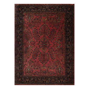 08' 04''x11' 04'' Rose Midnight Blue  Black Color Hand Knotted Persian 100% Wool Traditional Oriental Rug