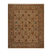 08' 00''x09' 11'' Beige Tan Peach Color Hand Knotted Persian 100% Wool Traditional Oriental Rug