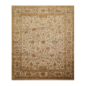 08' 02''x09' 08'' Dirty Beige Tan Taupe Color Hand Knotted Persian 100% Wool Traditional Oriental Rug