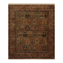 08' 00''x09' 06'' Rust Camel Teal Color Hand Knotted Persian 100% Wool Traditional Oriental Rug